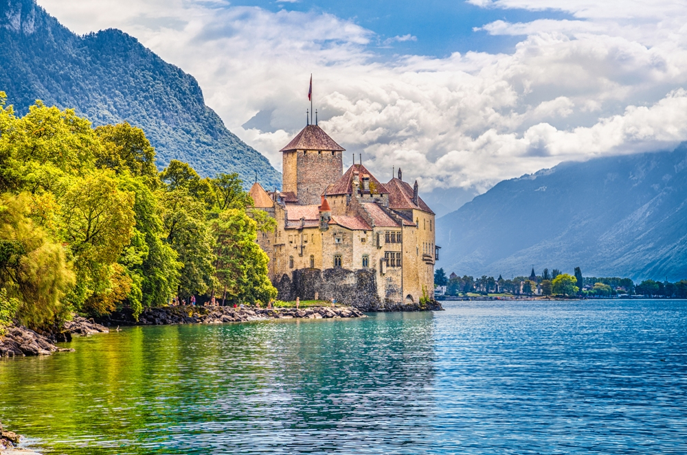 Castle Chillon in Veytaux, Switzerland