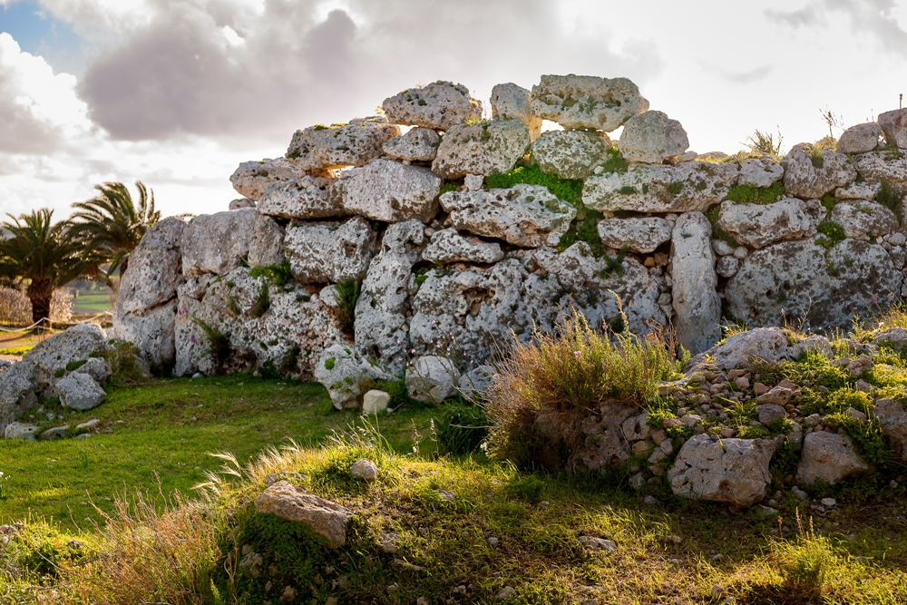 The Ggantija Temples of Gozo in the Maltese Islands